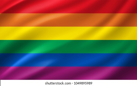 Rainbow Flag in Vector Illustration