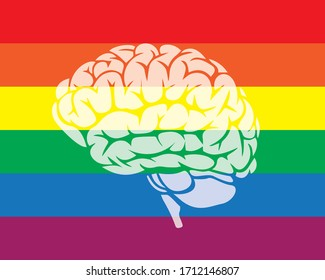 Rainbow gay pride symbol. Human rights and tolerance. Poster, card, banner and background.