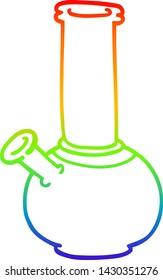 rainbow gradient line drawing of a cartoon bong