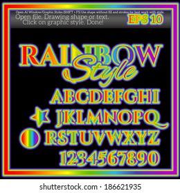 Rainbow Graphic Style