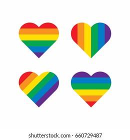 Rainbow Heart Shape