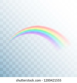 Rainbow icon. Abstract rainbow image. Colorful light and bright design element for decorative. Vector illustration isolated on transparent background