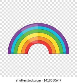 Rainbow icon. Cartoon illustration of rainbow vector icon for web