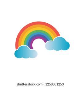Rainbow icon. Editable vector 64x64 Pixel.