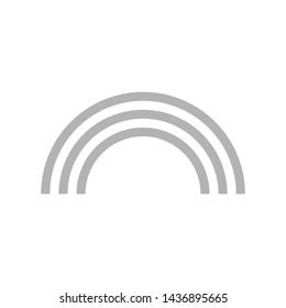 Rainbow Icon Flat Vector Illustration.