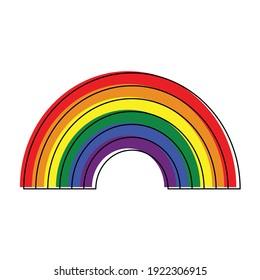 Rainbow  icon Gay vector or LGBT,  rainbow  pride symbol.