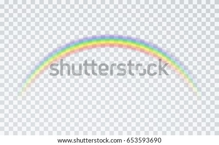 rainbow icon isolated on transparent background のベクター画像素材