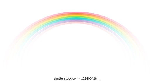 Rainbow icon realistic. Perfect icon isolated on background stock vector. Spectrum fantasy pattern. Vector realistic translucent sky rainbow template.