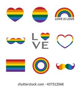 Rainbow icon,LGBT support symbol