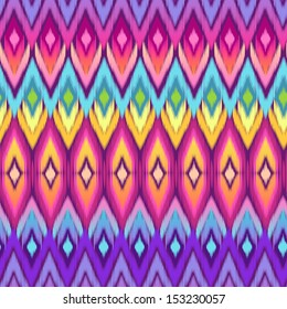 rainbow ikat vector ~ seamless background