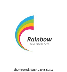 Rainbow ilustration logo vector template