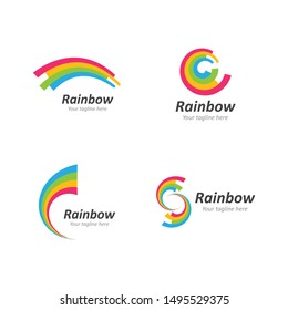 Rainbow ilustration logo vector template