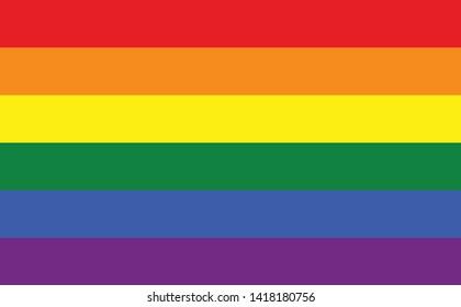 Rainbow LGBT or LGBTQIA+ pride flag sign flat icon