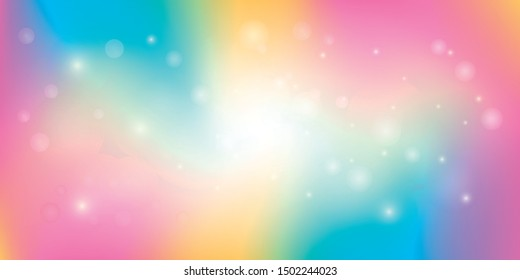 Rainbow light abstract background vector