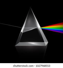 Rainbow Light Trough Prism on Dark Background