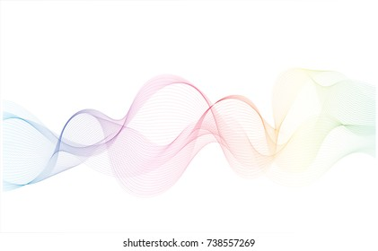 Rainbow line abstract pattern background,EPS10