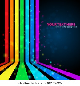 Rainbow Lines Background. Vector illustration for your business presentations.