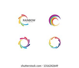 Rainbow logo vector template
