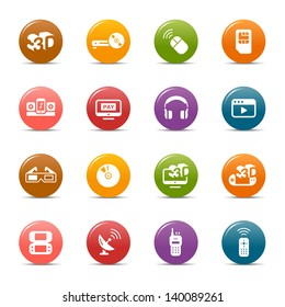 Rainbow - Media and Technology Icons / Navigation Template