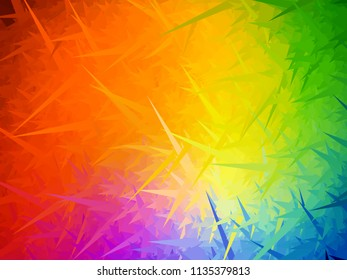 Rainbow needles background