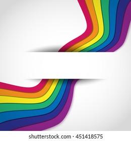 Rainbow on white. Rainbow abstract background. Rainbow border. Rainbow vector colors. Rainbow illustration. Rainbow object. Rainbow rays.