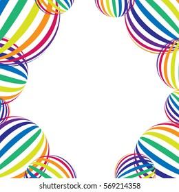 Rainbow on white. Rainbow abstract background. Rainbow border. Rainbow vector colors..