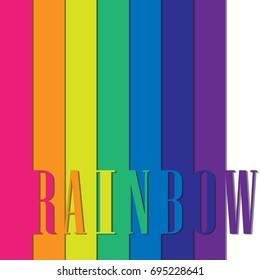 Rainbow on white abstract background. Rainbow border. Rainbow vector illustration. Rainbow stripes.