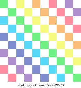Rainbow on white. Rainbow abstract background. Rainbow border. Rainbow vector color illustration.