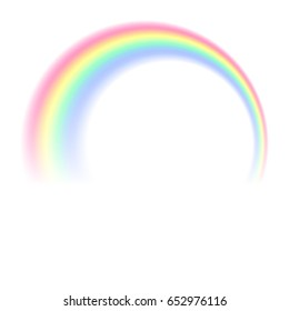 rainbow on white background, colorable, and can be edited vector image eps10