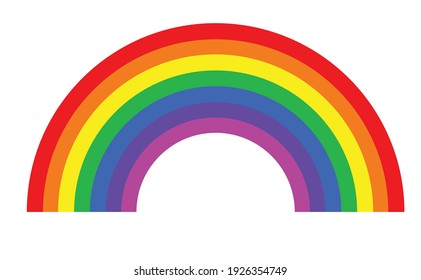 rainbow on white color background