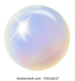 Rainbow opal, isolated on a white background. Vector illustration