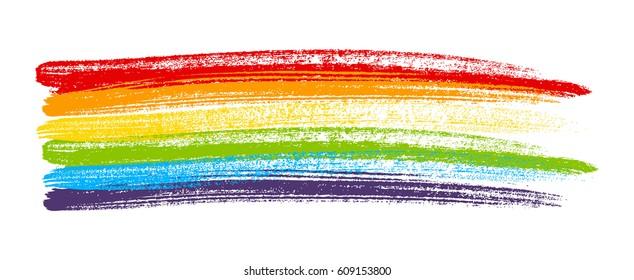 Rainbow paint element isolated on white