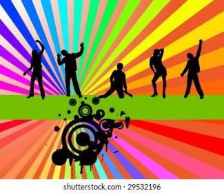 rainbow party - vector