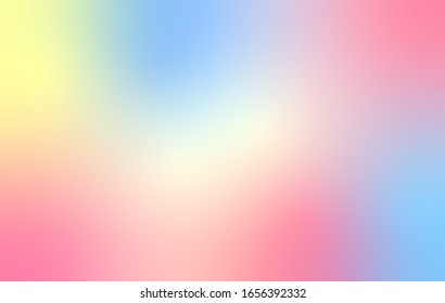 Rainbow pastel gradient vector background. Abstract blurred wallpaper texture. Template for website design and social media advertising. summer and spring concept