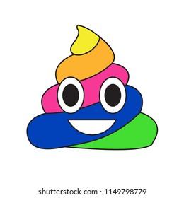 rainbow poop emoji