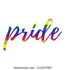 Rainbow Pride - Rainbow pride typography