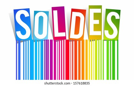 Rainbow sale vector illustration