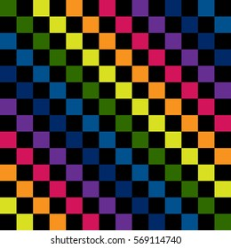 Rainbow seamless pattern. Rainbow abstract background. Rainbow border. Rainbow vector colors.