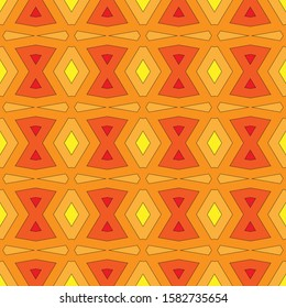 Rainbow seamless pattern with a predominance of gradations of yellow and red. Vector illustration