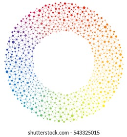 Rainbow Spectrum Colored Graphic Background Showing Unity Togetherness Networking Politics Energy in a Circle Working Together Concept
