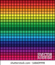 Rainbow squares, vector