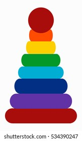 rainbow stacking pyramid  colorful toy for kids  Series of children's toys