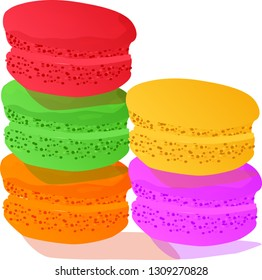 Rainbow stacks of macaroons