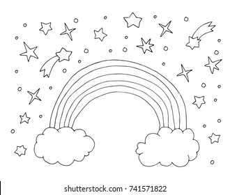 Rainbow Outline Images Stock Photos Vectors Shutterstock