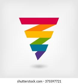 rainbow strip abstract symbol - vector illustration. eps 10