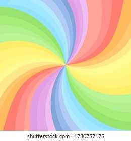 rainbow swirl background. vector illustration