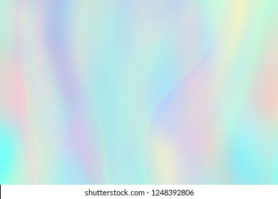 Rainbow texture. Hologram foil iridescent background. Pastel fantasy unicorn vector pattern