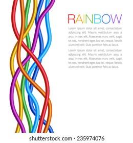 Rainbow Twisted Bright Vibrant Wares, vector illustration