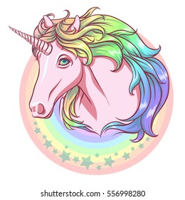 Rainbow unicorn.