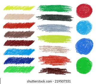 Rainbow vector brush strokes collection. Vector illustration. Can use for printing and web element.